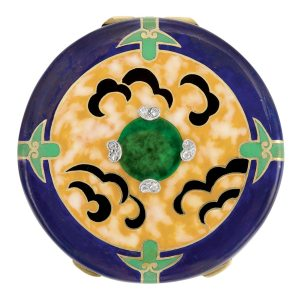 Lot-310-Art-Deco-Gold-Platinum-Enamel-and-Diamond-Rouge-Pot