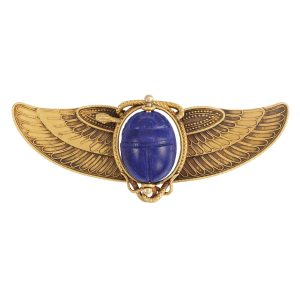 Lot-71-Egyptian-Revival-Gold-and-Lapis-Scarab-Brooch